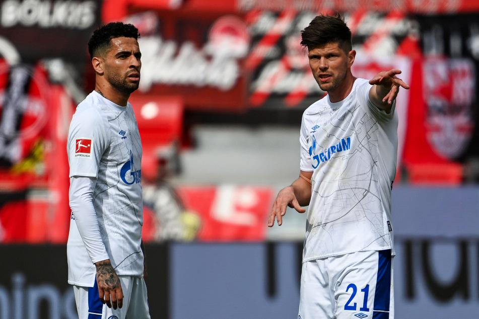 Klaas-Jan Huntelaar (r.) stand erstmals seit dem 13. Mai 2017 wieder in der Startaufstellung des FC Schalke 04 - und traf direkt wieder!
