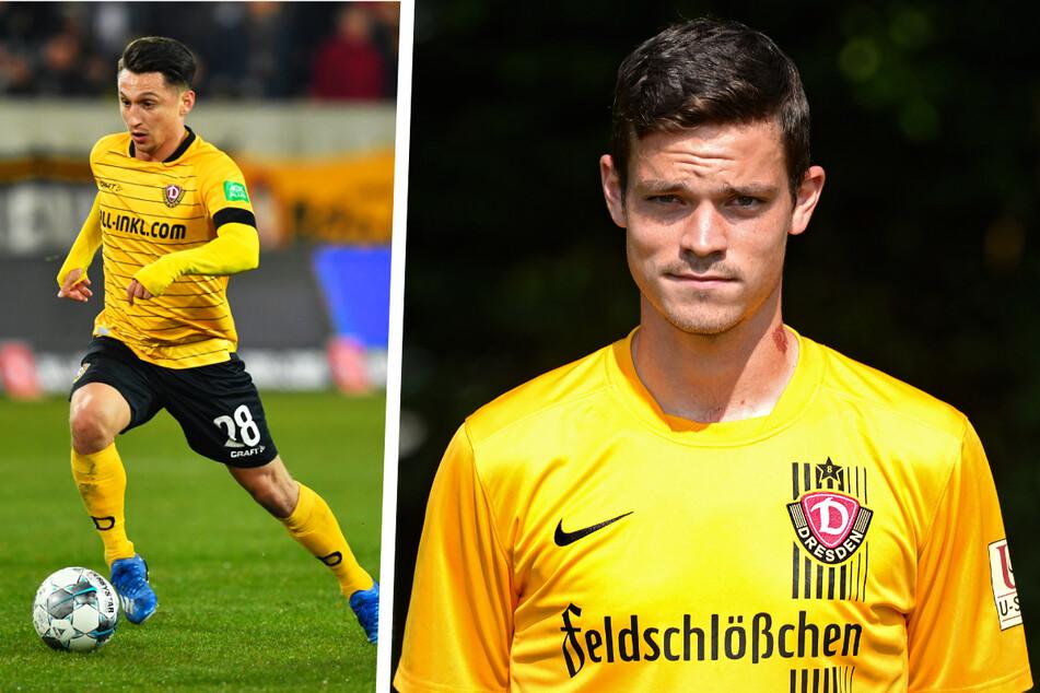 "Duell der beiden früheren Spieler von Dynamo Dresden: Baris Atik (26, l.) traf zwar, doch am Ende durfte Dennis ""Earthman"" Erdmann (30) jubeln."