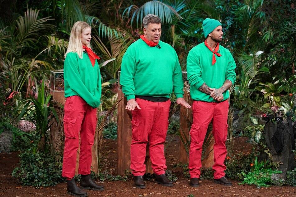 Mussten auch an Tag 2 zur Dschungelprüfung antreten: Zoe Salome Saip(21, v.l.), Frank (52) und Mike (28).