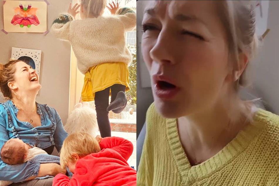 """Vierfach-Mama Nina Bott kann es nicht verstehen: """"War ganz kurz davor zu platzen"""""""