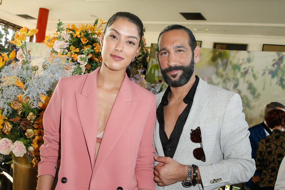 Moderatorin Rebecca Mir (29) zusammen mit Ehemann Massimo Sinató (40).