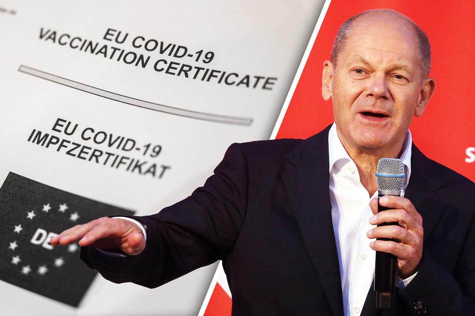 """Olaf Scholz (63, SPD) sieht sich als """"Versuchskaninchen"""" bei der Corona-Impfung. Das """"Experiment"""" glückte."""
