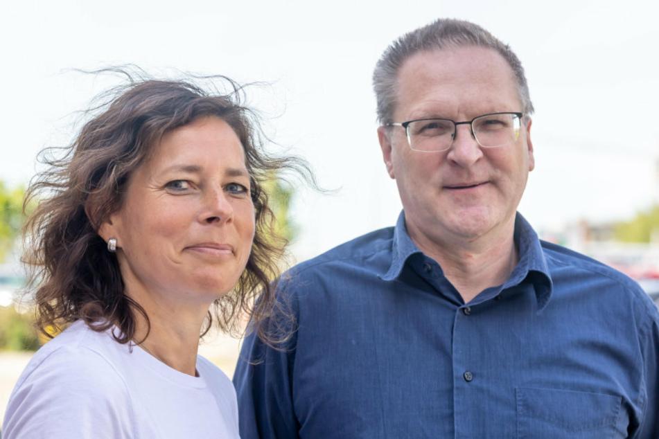 Dr. Claudia Beyer (49) und Sören Scheffler (54) vom Fraunhofer IWU haben an der Alu-Karosserie gearbeitet.