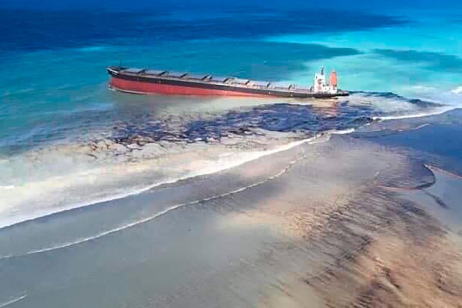 Umweltdesaster: Frachter verliert Öl vor Mauritius