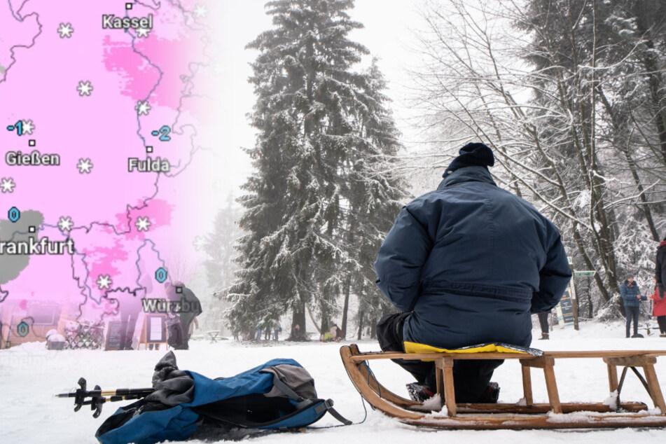 Schnee, Frost und Glätte: So startet das Hessen-Wetter ins neue Jahr