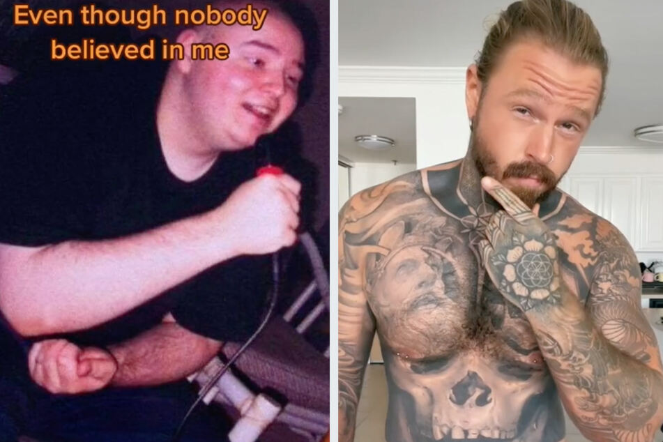 """""""I discovered the gym, and everything changed"""": Man loses 180 lbs and transforms his life with tattoos"""