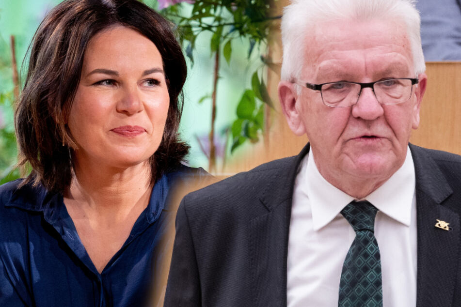 Kanzlerkandidatin Annalena Baerbock (40) und Baden-Württembergs Landesvater Winfried Kretschmann (73, beide Grüne).