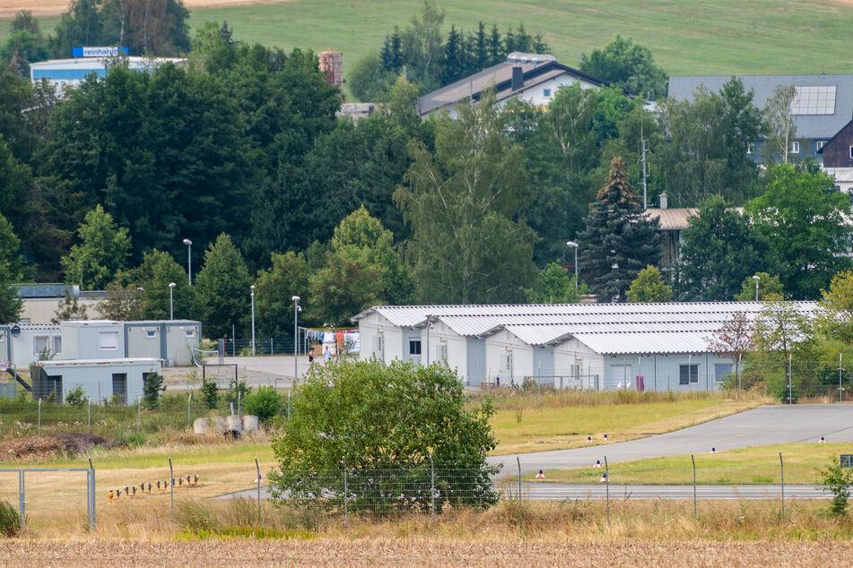 Im Container-Dorf in Jahnsdorf-Pfaffenhain leben knapp 100 Asylbewerber. Die Übergangslösung ist bis Ende September 2020 geplant.
