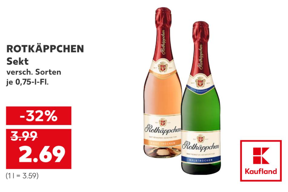 Sekt für 2,69 Euro