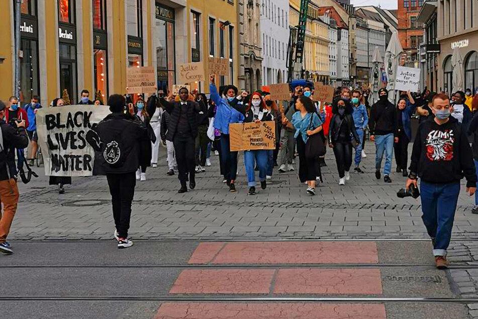 Nach Tod von George Floyd: Solidarischer Protest auch in Leipzig