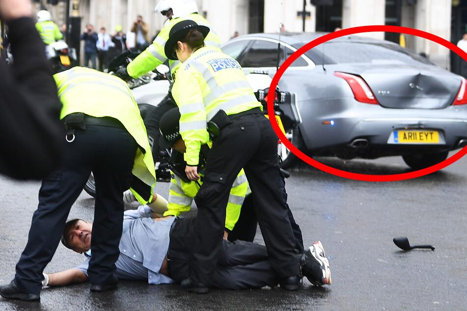 Boris Johnson in Unfall verwickelt? Regierungs-Flotte crasht ineinander!
