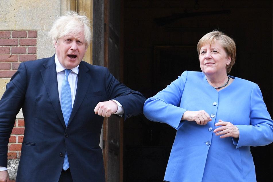 Merkel-Reise nach Großbritannien: Staatsbesuch im Delta-Hotspot