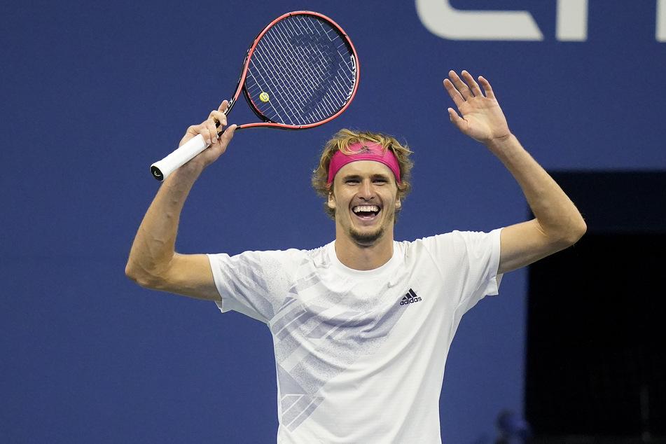 Tennis-Profi Alexander Zverev freut sich über seinen Finaleinzug.