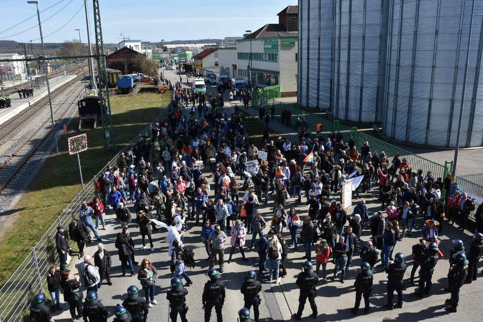 Insgesamt kamen rund 3500 Teilnehmer zur Demo.