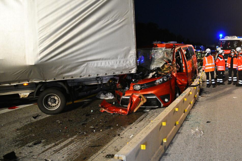 Ein Blick auf die Unfallstelle auf der A5.