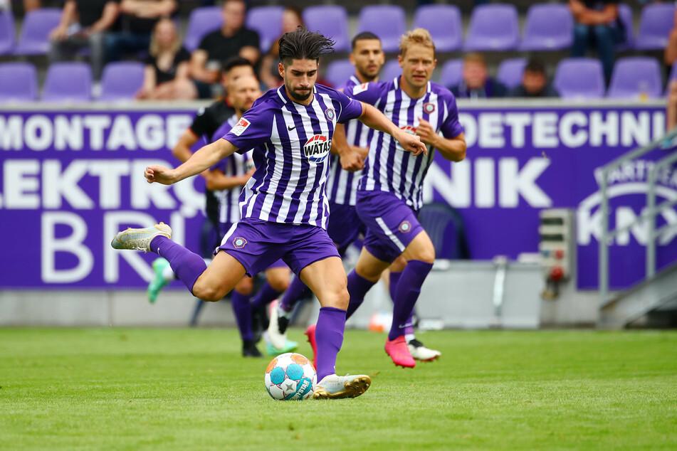 Offensivspieler Semih Sahin (21) musste das Spiel gegen Magdeburg verletzt verlassen.