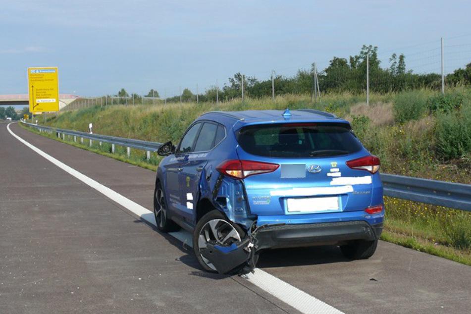 Der Hyundai wurde vom Geisterfahrer erwischt.