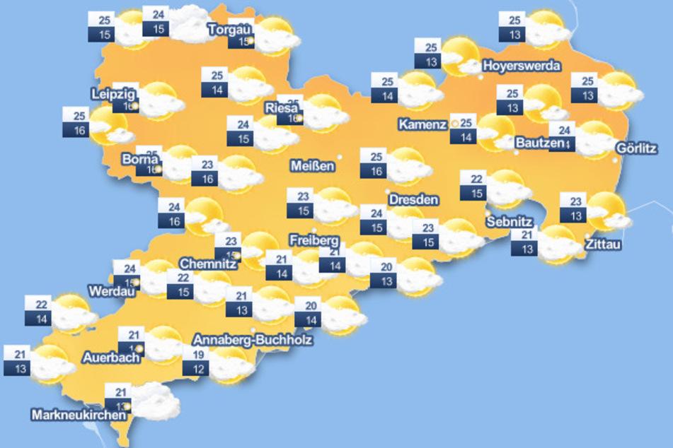 Es wird in Sachsen zwar warm - doch leider auch regnerisch.
