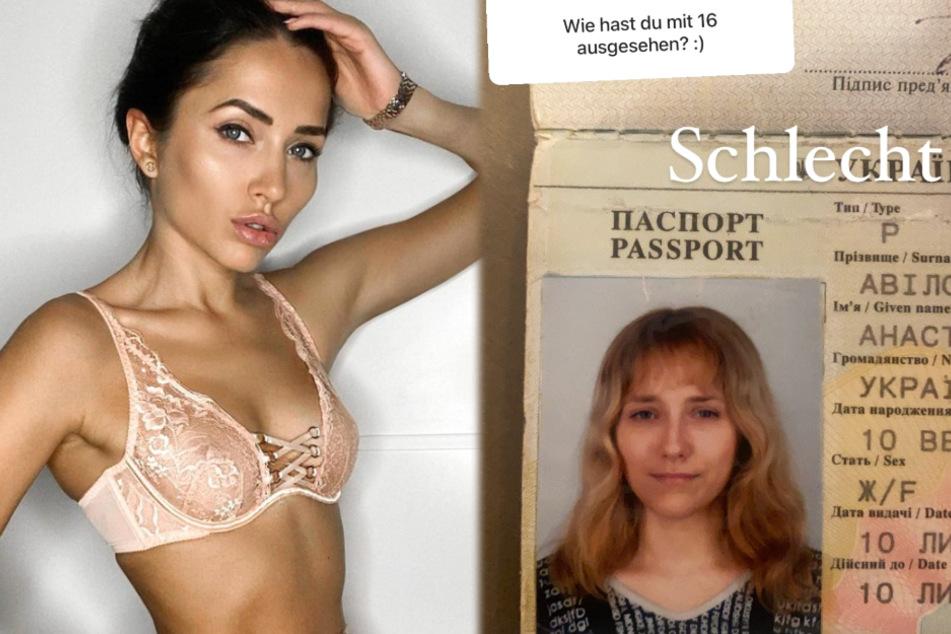 Links ist ein aktuelles Bild von Anastasiya Avilova (32) zu sehen, rechts die Mainzerin als 16-Jährige.