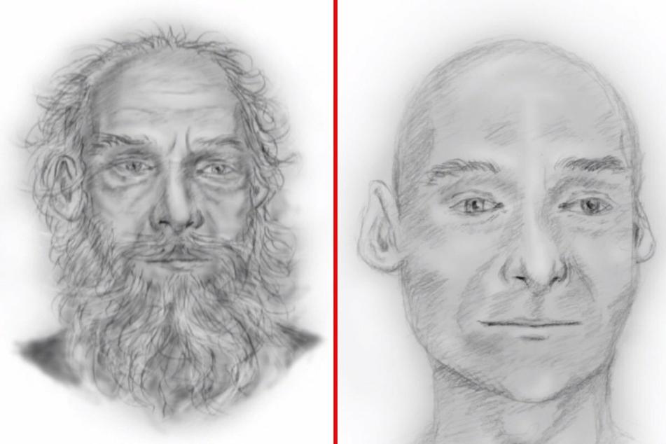 """Mit diesen Zeichnungen hat die Polizei bisher um Hinweise zur Identität """"Ötzis"""" gebeten. Nun haben die Ermittler Fotos des Toten veröffentlicht, um hoffentlich neues Erkenntnisse zu gewinnen."""