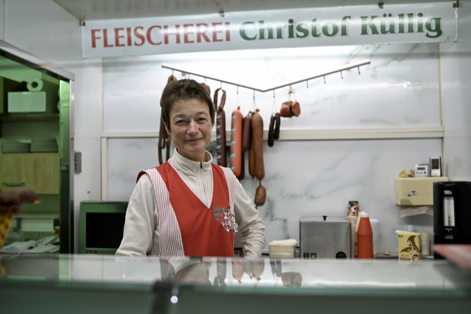 Wird oft gefragt, ob man noch nach Tschechien einreisen darf: Fleischereiverkäuferin Regine Schanze (56).