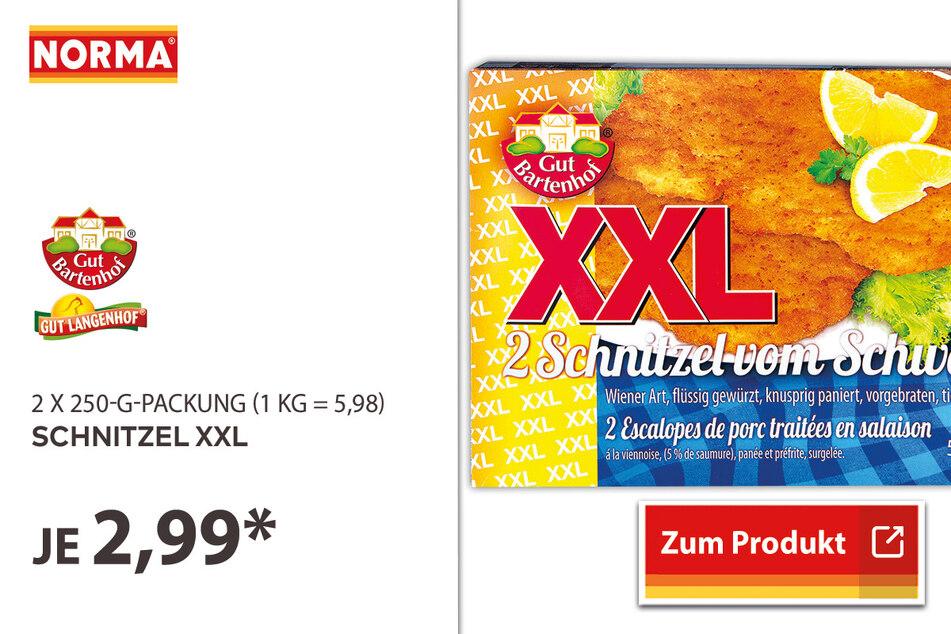 Schnitzel XXL für 2,99 Euro.