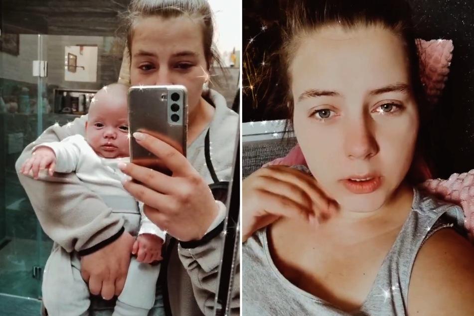 Sarafina Wollny (26) wird von ihren kleinen Babys ordentlich auf Trab gehalten. (Fotomontage)