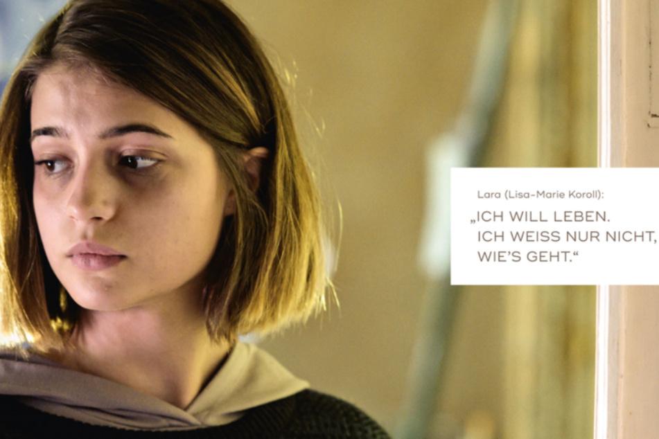 """Die 22-jährige Lisa-Marie Koroll spielt die 16-jährige Lara. Die Schauspielerin sagt: """"Es ist unfassbar schwer, als Außenstehender nachzuvollziehen, was in einem betroffenen Mädchen vorgeht."""""""