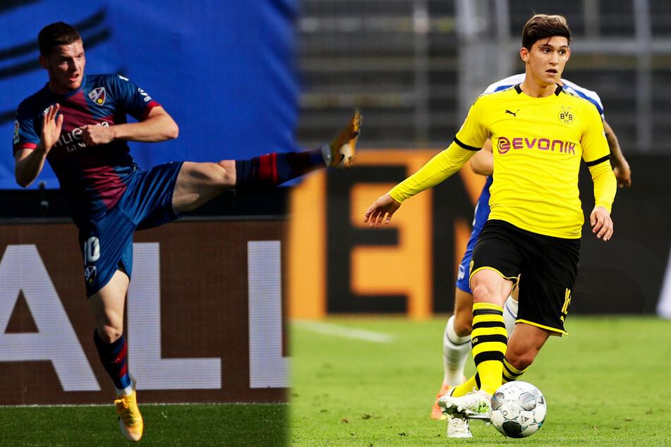 Die Leihspieler Sergio Gomez (20, l.) und Leonardo Balerdi (22) werden in der kommenden Saison voraussichtlich nicht für Borussia Dortmund auflaufen.