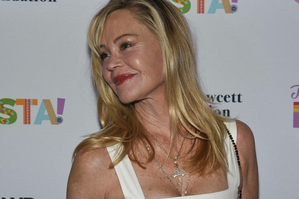Sixty-three years young and beautiful: Melanie Griffith poses in lingerie