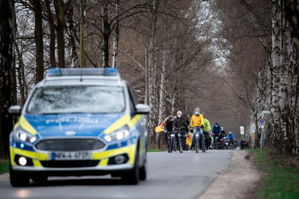 Der Ostermarsch mit Fahrraddemo führt an Karfreitag zur Gronauer Urananreicherungsanlage URENCO.