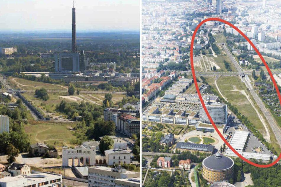Auf dem Brachland hinter dem Bayrischen Bahnhof entsteht seit 2020 ein neues Viertel. (Archiv)