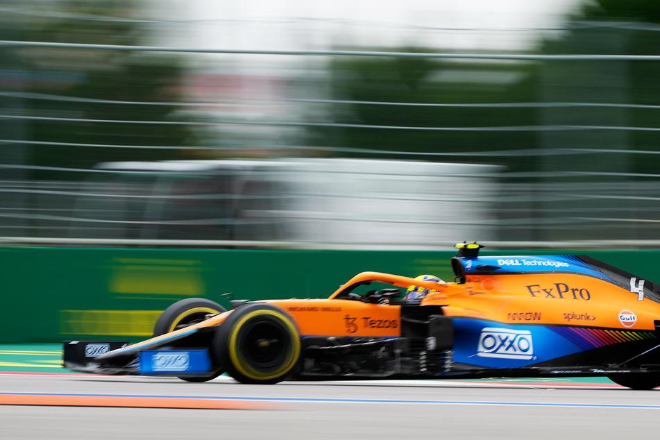 Lando Norris (21, McLaren) führte den Großteil des Rennens. Am Ende ging seine Strategie aber nicht auf.