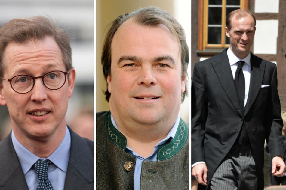 Diese drei Deutschen sind mit dabei (v.l.n.r.): Bernhard Prinz von Baden (50), Philipp Prinz zu Hohenlohe-Langenburg (51), Heinrich Donatus Prinz von Hessen (54).