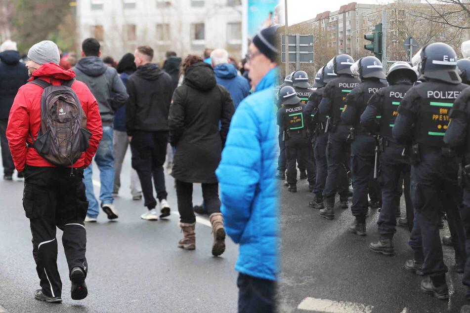 Dresden: Rund 600 Leute demonstrieren unangemeldet in Dresden: Polizei machtlos
