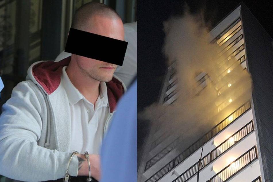 Silvester-Rakete entzündet 17-Geschosser: Paar in Lift gefangen