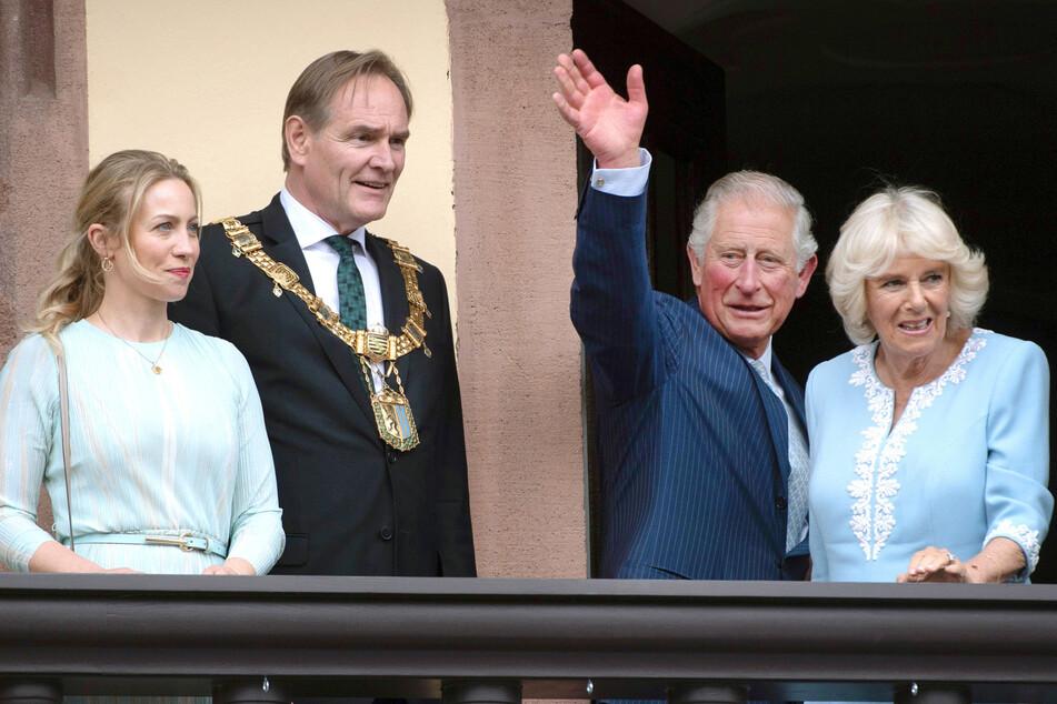 Leipzigs OB Jung und Frau Ayleena hatten im Mai 2019 Prinz Charles und Camilla zu Gast.