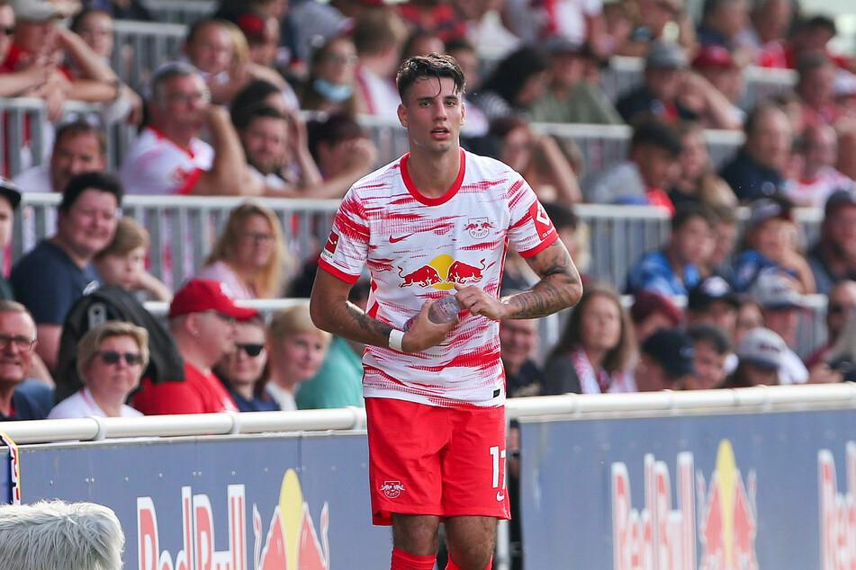 Stand nach einer hartnäckigen Verletzung das erste Mal für RB Leipzig auf dem Platz: Dominik Szoboszlai.
