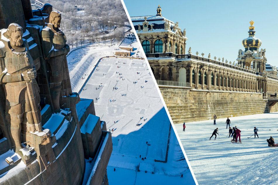 So genießen die Sachsen das Winterwetter, doch das ändert sich nun drastisch
