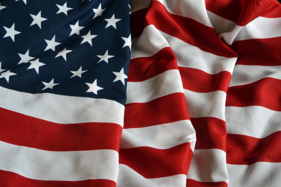 Die amerikanische Flagge.