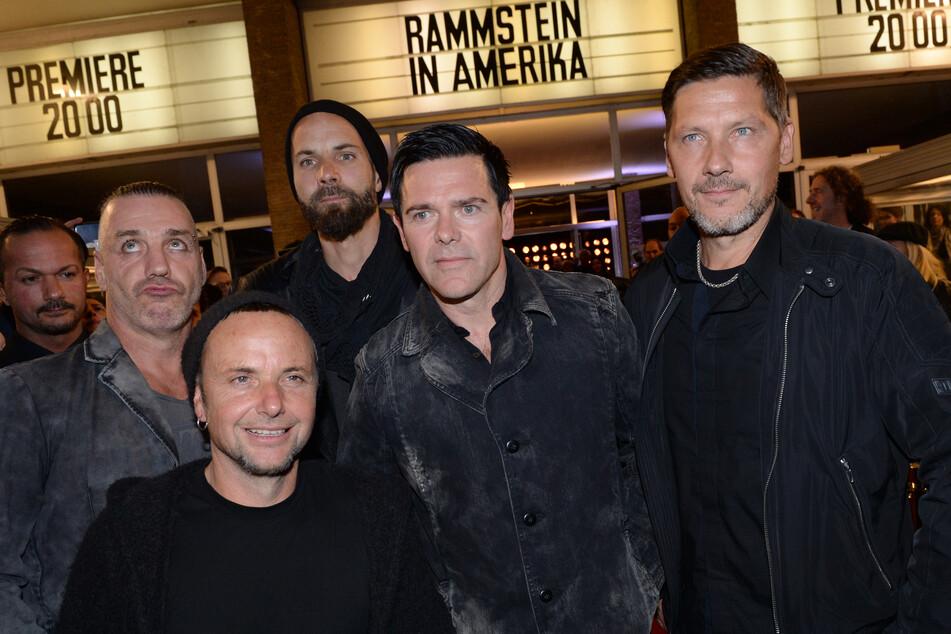 v.l.n.r.: Sänger Till Lindemann, Gitarrist Paul H. Landers, Gitarrist Richard Kruspe, Bassist Oliver Riedel und Schlagzeuger Christoph Schneider der Band Rammstein.