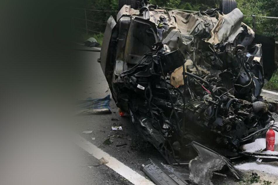 Mann stirbt um ein Haar bei schwerem Unfall: Hat er zuvor seine Ehefrau getötet?