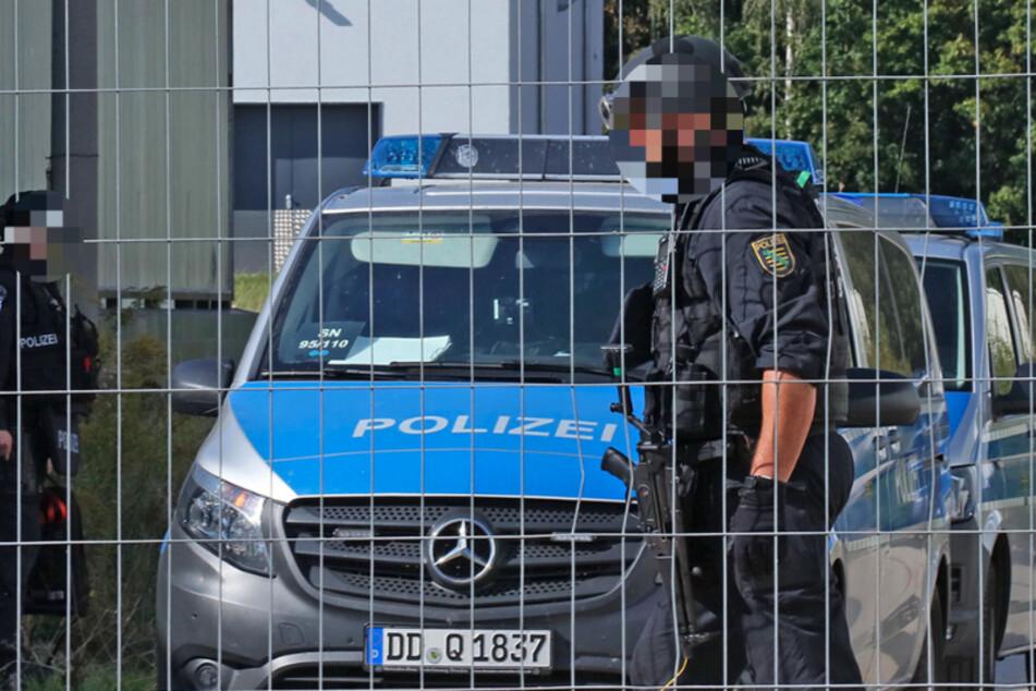 Schwer bewaffnete Polizisten in Meerane unterwegs: Was war los?
