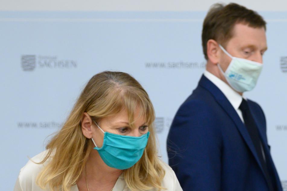 Gesundheitsministerin und Ministerpräsident: Petra Köpping (62, SPD) und Michael Kretschmer (45, CDU).