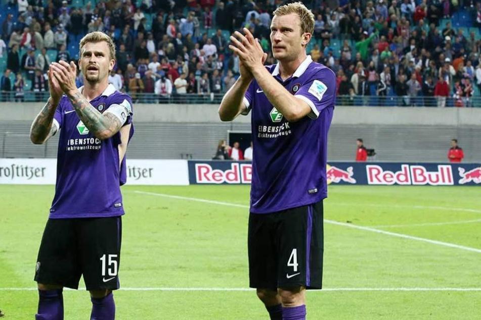 Zwei Auer Legenden, die immer noch auf einen Abschiedsgruß warten: Thomas Paulus (l.) und Rene Klingbeil.