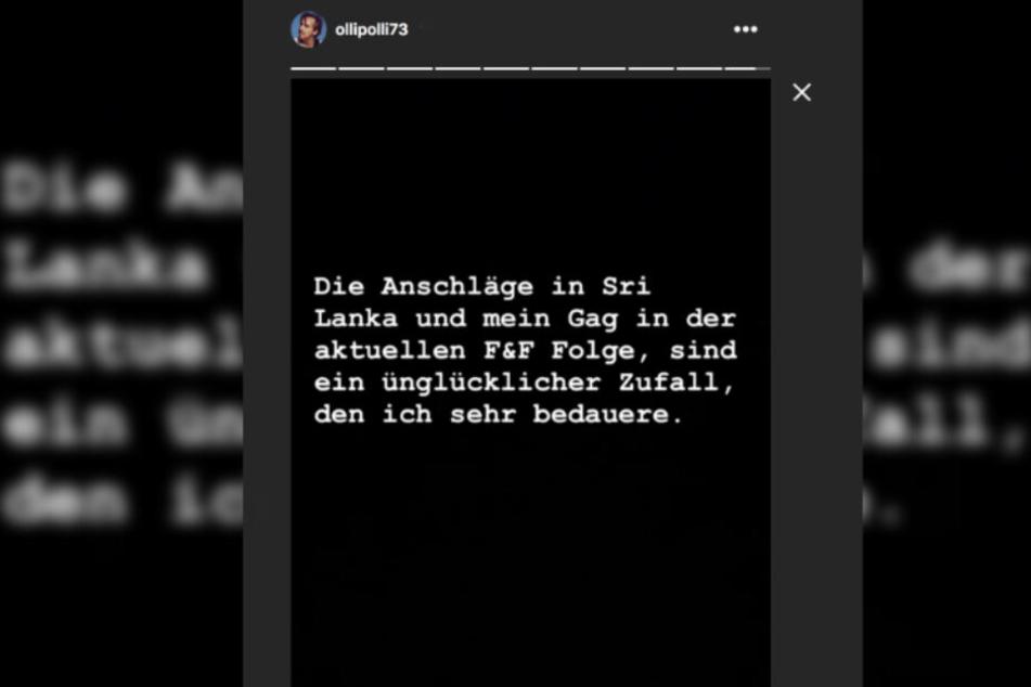 Bei Instagram betonte Schulz, dass es sich nur um einen Zufall handle.