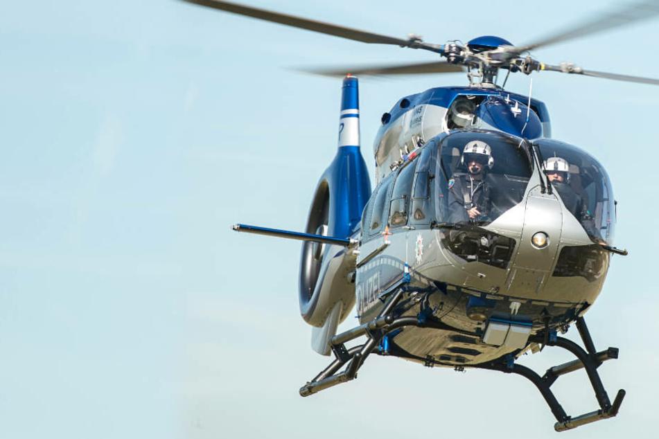 Die Hubschrauber-Besatzung entdeckte den 53-Jährigen im Waldstück, wo er dann von Streifenbeamten festgenommen wurde (Symbolbild).