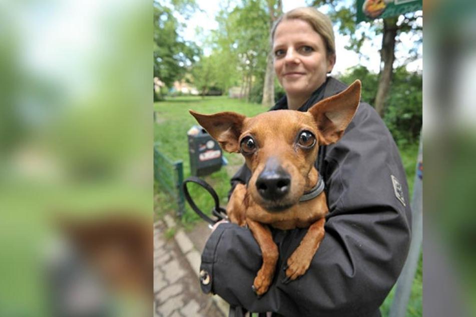 Susanne Schaper (39, Linke) kann sich die Hundesteuer leisten, wünscht sich aber mehr Hundewiesen und -toiletten.