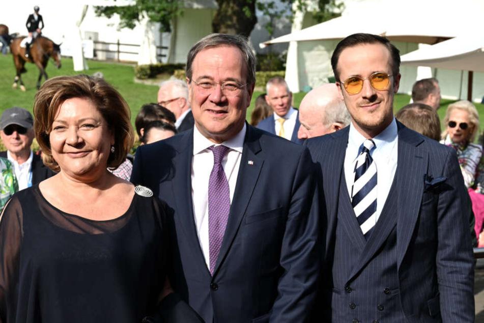 Politiker Armin Laschet (59), Ehefrau Susanne (59) und Sohn Johannes (30).