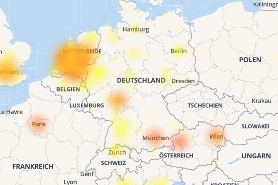Die Störung wandert langsam durch Europa.